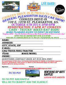 General Pleasonton Days Car Show 2014 Cookees Drive-In