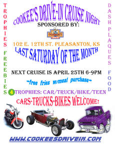 Cookees Drive-in Cruise Night April 2015