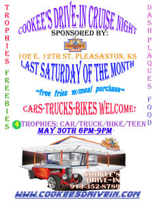 Cookees Drive-In Cruise Night May 2015