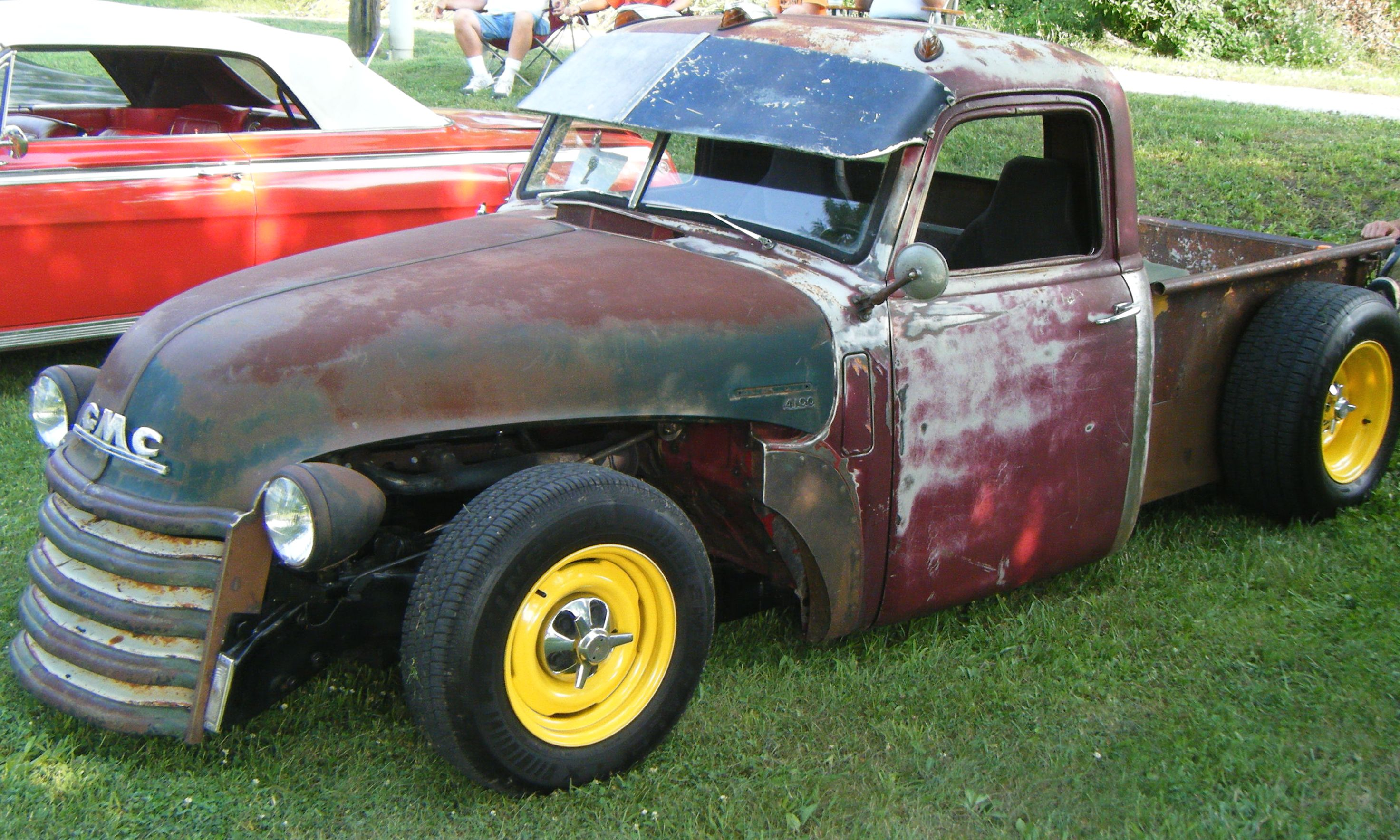 Cookees Drive In Cruise Night June 2009 1957 Chevy Truck Rat Rod 1948 Gmc Pickup