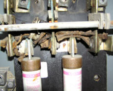 Cookees Drive-In Corroded Fuse Holder On Main Switch